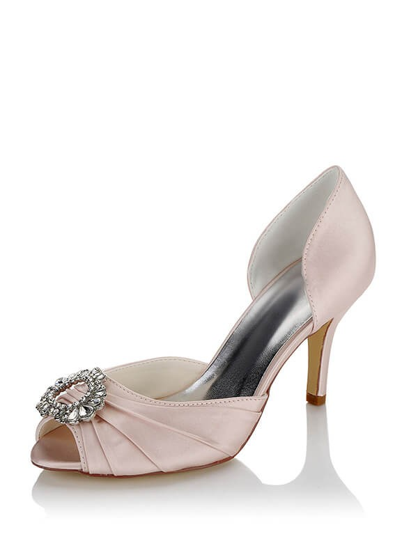 Fashion Cheap Satin Wedding Shoes SW0839012A1I