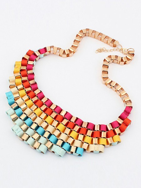 Occident Hyperbolic Colorful elegant Street shooting All-match Hete verkoop Ketting