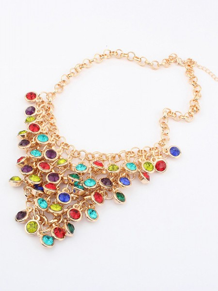 Korean version Colorful wafer curtain elegant Hete verkoop Ketting