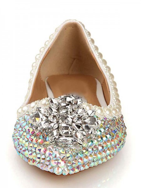 Patent Leer Diamant Pointed Toe Flats